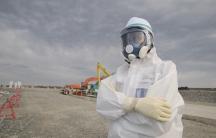 worker at the Fukushima plant