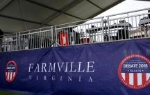 A photo of Farmville, Va. pre debate.