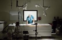 Matthew Sullivan working on a prototype operating table | Suspended Animation, Boytan Beach, Florida, USA 2010