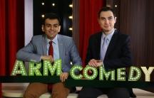 photo of Narek Margaryan and Sergey Sargsyan of ArmComedy, Armenia's first satirical news program