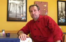 Chef Thierry Marceaux at his restaurant in Las Cruces, New Mexico