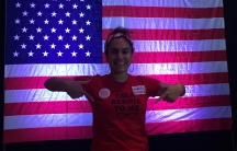 Iowan Maria Alcivar caucused and voted yesterday for the first time.