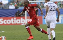 Cuban midfielder Ariel Martinez playing against Guatemala in the 2015 Gold Cup