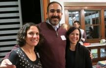 Iraqi-trained physician Marwan Sweedan and the co-founders of Global Talent Idaho, Tara Wolfson (left) and Lisa Cooper.