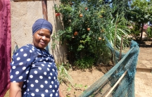 """Mavis, a housekeeper from the Pretoria township of Mamelodi, depends on her garden to help provide for her five children and seven grandchildren. But with this year's region-wide drought, her garden is just a dusty patch of seedlings. """"I want rain every d"""