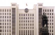 Lenin statue in Minsk, Belarus
