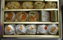 A box of Mithai, the sweets that are an ever-present staple of social life in India.