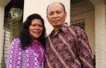 Rose and Alfrits Monintja outside of their home in the New York City borough of Queens. The Monintjas are originally from the village of Sonder in North Sulawesi, Indonesia, and are among an estimated 100,000 people who speak the disappearing language Ton
