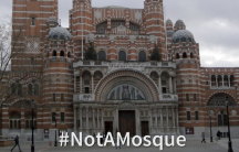 An image of Westminster Cathedral, which a local branch of the UK Independence Party mistook for a mosque.