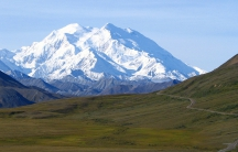 America's highest peak, as seen from the Stony Dome lookout point in Denali National Park
