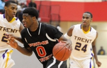 Emmanuel Mudiay drives to the hoop during a high school game for Prime Academy in Texas. Mudiay is now playing in China and making seven figures instead of playing in college.