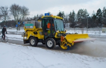 "Stockholm has nine new Irish-made ""Multihog"" machines clearing the area's bike paths in winter."