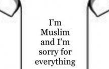This satirical t-shirt was one of many images posted on Twitter under the hashtag #MuslimApologies