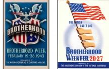 Posters promoting National Brotherhood Week in the US