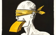 """""""No Freedom without Freedom of the Press,"""" by Tomi Ungerer, 1992"""
