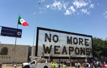 'No More Weapons' sign