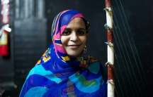 Mauritania singer Noura Mint Seymali backstage in January 2013