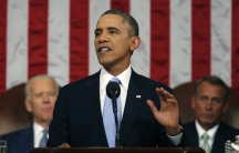 US President Barack Obama delivers his State of the Union speech on Capitol Hill in Washington January 28, 2014.