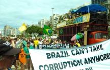 Protesters in Rio
