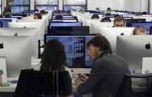 More than a thousand Macintosh computer screens light up 42's open work spaces where students are given assignments.