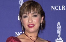 "Actress Elizabeth Pena poses backstage after receiving honors for Outstanding Actress in a New Television Series for ""Resurrection Blvd."" at the sixth annual American Latino Media Arts (ALMA) Awards April 22, 2001 in Pasadena, California."