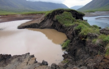A bank of this lake thawed in the Gates of the Arctic National Park in Alaska, allowing the Okokmilaga River to cut through and drain it to sea.