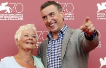 "Actors Judi Dench (L) and Steve Coogan (R) pose during a photocall for the movie, ""Philomena,"" during the 70th Venice Film Festival in Venice. It's based on the book, ""The Lost Child of Philomena Lee,"" by former BBC reporter Martin Sixsmith."