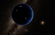 This artistic rendering shows the distant view from Planet Nine back towards the sun
