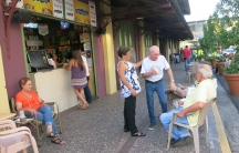 The central market in the Santurce neighborhood of San Juan, a central gathering spot for people to discuss politics after work.