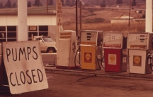 Gasoline shortages prompted by the Arab Oil Embargo hit this station near Interstate 5 in Oregon in October, 1973. The embargo roiled the US economy through the winter of 1973-74, before it was lifted on March 17, 1974.