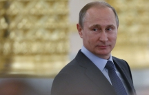 Russian President Vladimir Putin attends a session of the Civic Chamber at the Kremlin in Moscow, Russia, June 2015.