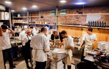 The RefettoRio team of chef in action in Rio.