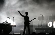 Prince performs at the Coachella Music Festival in Indio, California April 26, 2008.