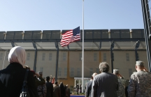 The formal opening of the new US embassy in Baghdad's fortified Green Zone, January 5th 2009