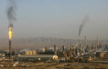 A general view of the Baiji oil refinery, Iraq's largest, in 2009. Today it's being held —barely —by Iraqi forces against ISIS fighters.