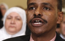 Abdirizak Bihi, who directs the Somali Education and Social Advocacy Center in Minnesota, testifies at a congressional hearing on radicalization in Washington. Bihi's nephew left Minnesota to fight with al-Shabab in 2008.