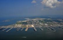 Aerial photo of Naval Station Norfolk