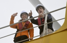 Caroline Kennedy visits offshore wind turbine