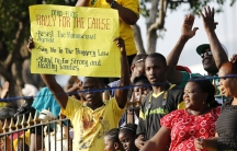 Thousands of Jamaicans hold a demonstration against the local lesbian, gay, bisexual and transgender (LGBT) community in Half Way Tree, Kingston.