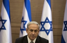 Israel's Prime Minister Benjamin Netanyahu heads a cabinet meeting in Jerusalem, Thursday. So far, his government has enjoyed the support of the Israeli people in the conflict with Hamas.