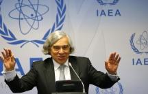 US Secretary of Energy Ernest Moniz addresses a news conference at the International Atomic Energy Agency (IAEA) headquarters in Vienna September 22, 2014.