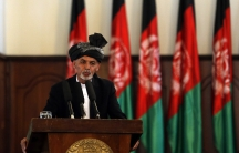 Afghanistan's new President Ashraf Ghani Ahmadzai speaks during his inauguration as president in Kabul on September 29, 2014.