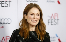 """Cast member Julianne Moore poses at a special screening of the film """"Still Alice"""" during AFI Fest 2014 in Hollywood on November 12, 2014."""