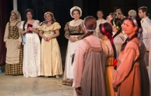 """Amid the war in the eastern part of Ukraine, the Donetsk Opera Theatre has kept its doors open.  The cast and crew want """"the show to go on."""""""