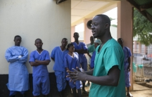 Healthcare workers were some of the hardest hit during Sierra Leone's Ebola epidemic. The names of 200 of those who died will be read at a vigil in Freetown. (Photo of hospital staff in Freetown at the height of the outbreak).