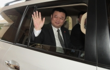 HK Nicaragua Canal Development Investment Co Ltd (HKND Group) chairman Wang Jing waves after attending a media conference in Managua December 23, 2014.