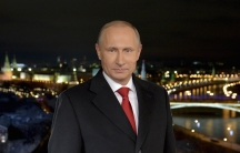Russia's President Vladimir Putin makes his annual New Year address to the nation in Moscow December 31, 2014.