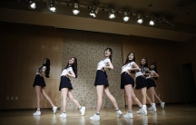 South Korean girl group GFriend rehearse in Seoul