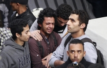 Relatives, friends and residents of Alexandria mourn during the funeral of Shaimaa al-Sabbagh, an activist at the Socialist Popular Alliance Party (SPAP), in Alexandria January 25, 2015.