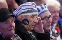 Survivors attend a ceremony on the site of the former Nazi German concentration and extermination camp Auschwitz-Birkenau in Poland. Tuesday marked the 70th anniversary of the Nazi camp's liberation by Allied soldiers.